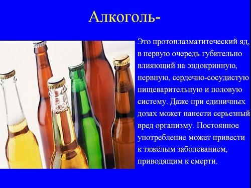 Реферат алкоголь и его влияние на человека 4818
