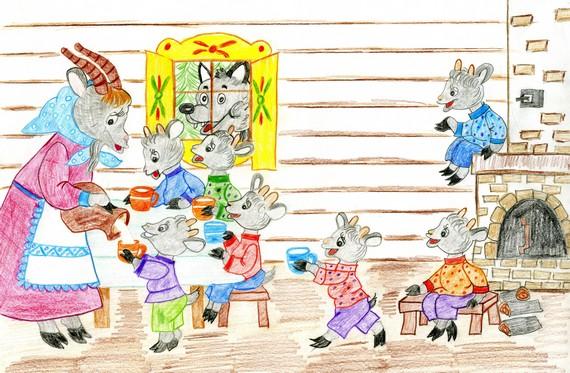 интернет-магазине иллюстрации к сказке волк и козлята поэтапно сейчас познакомлю вас