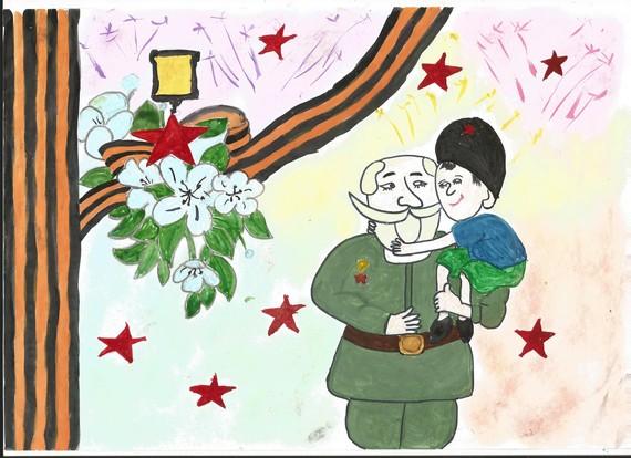 Рисунок на тему спасибо деду за победу, сделать