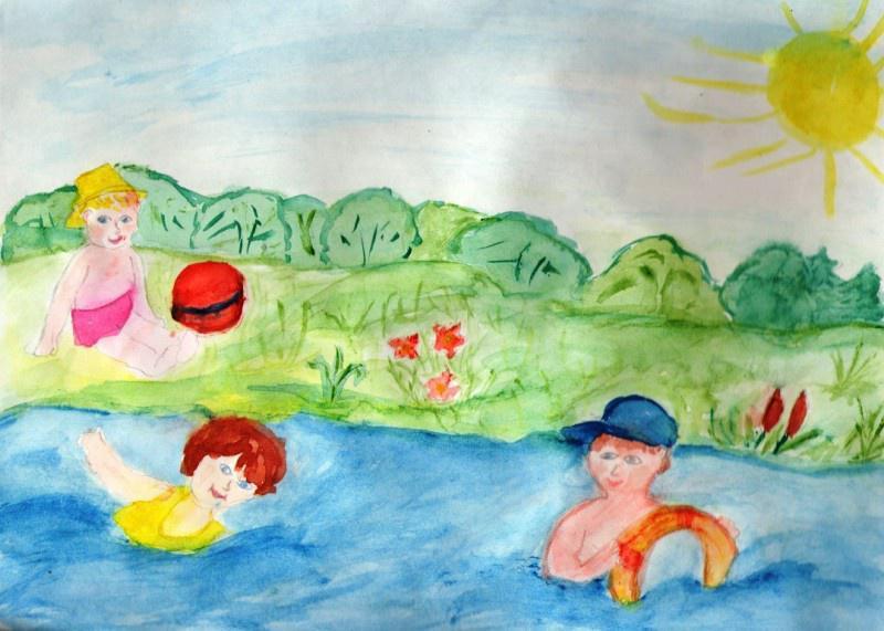Нарисовать картинку лето для детей, юмором про
